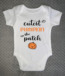 Halloween Baby Grow - Cutest Pumpkin in the Patch - Body Suit Trick or Treat