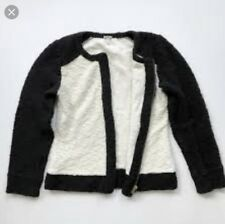 J.Crew Women Black and White Colorblocked Blazer Cropped Size S