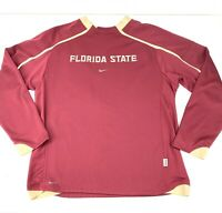 Men's XL Nike Therma-Fit FSU Seminoles Fleece Lined Pullover EUC Florida State