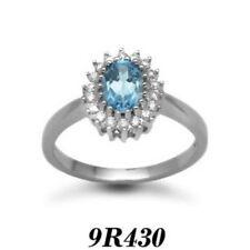 Blue Engagement Very Good Cut Fine Diamond Rings