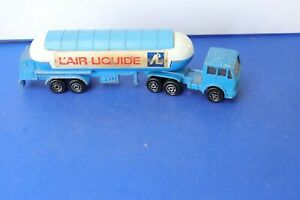 MAJORETTE ancienne camion semi-remorque citerne 1/100  AIR LIQUIDE