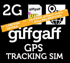 2 2G Sim Card for GPS Tracking Device Tracker GSM Car Pet Child +£5 FREE PAYG.