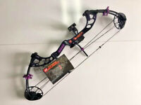 """PSE FEVER PURPLE RAIN 8-60LB. CUSTOM RTS PACKAGE 11 TO 29""""  CLEARANCE $259"""