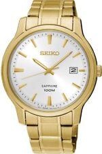 Seiko SGEH 70P1 fecha de Vidrio Cristal De Zafiro Wr 100 M Reloj 2 año Guar RRP £ 229.00