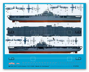 Peddinghaus 1/1250 ep 3277 US Träger USS Essex CV 9