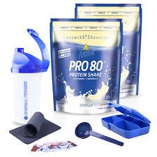 ++ 2 x INKO Active Pro 80 Protein Eiweiß Shake, 2 x 500g + BONUS ++