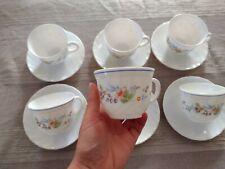 6 Tasses À Café/ Chocolat Arcopal Victoria Fleur Vintage