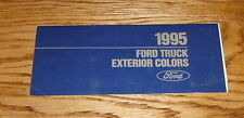 1995 Ford Truck Exterior Colors Brochure 95 Pickup Bronco F-Series