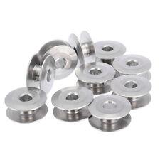 10pcs/set Aluminum Industrial Sewing Machine Bobbins Metal Spools Carft 21mm