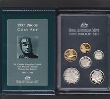 1997 Australia Proof Coin Set in Folder with outer Box & Certificate **