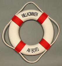 "Deko Rettungsring ""Willkommen an Bord"" rot / weiß 25 cm Ø maritime Dekoration"