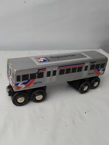 Septa Wooden Train Regional Rail Car Compatible with other Railroads