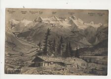 Berner Oberland [8731] Switzerland Vintage Map Postcard 318b