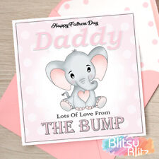 Personalised First 1st FATHERS Day Card From The Bump Daddy Dad to be Grandad