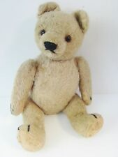 """Mohair Teddy Bear Vintage 12"""" Fully Jointed Long Snout Chad Valley V Seam Head"""