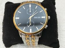 Bekueri luxury men's gold tone watch with black face , BN
