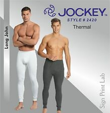 JOCKEY MEN THERMAL-LONG JOHN 2420-SNUG FIT-2 COLOURS-LABELFREE-DURABLE WAISTBAND