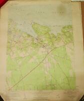 Antique VTG Port Jefferson Long Island NY 1955 Original USGS Topo Quadrangle Map