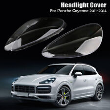 1 Pair Headlight Lampshade Clear Lens Shell Cover For Porsche Cayenne 2011-2014