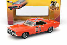 DODGE Charger #01 Generale Lee THE DUKES OF HAZARD 1969 Orange 1:18 AutoWorld