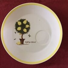 "GEORGES BRIARD--Lemon Tree-- 9"" Plates (2) with cup holder spot"