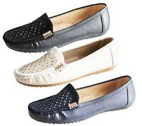 Womens Loafers Flat Casual Comfort Ladies Diamante Summer Pumps Shoes