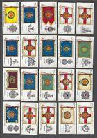 1910 John Player Regimental Colours & Cap Badges Tobacco Cards Complete Set