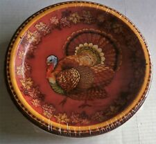 """FALL/THANKSGIVING  Paper Plates TRADITIONAL TURKEY  40 ct   10"""""""