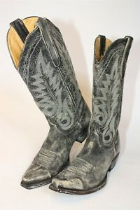 Old Gringo 7574 Womens 9 B Distressed Leather Snip Toe Cowboy Western Boots
