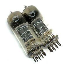 Matched Pair E180CC  NOS Mullard Holland Valve Tubes