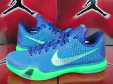 NEW Nike ID Kobe X 10 Low Blue Green Sprite Silver SZ 10.5 - Mamba Moment Elite