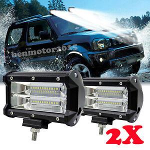 Hanmarigold Offroad-Scheinwerfer 8 Zoll 60W LED Arbeitsscheinwerfer Bar LED-Scheinwerfer Objektiv Offroad 4WD SUV Nebelscheinwerfer