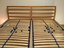 Massivholzbett 180cm x 200cm Hellbraun mit Lattenrost,  Doppelbett