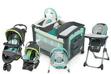 Baby Stroller Travel System with Car Seat High Chair Bouncer Playard Set Combo