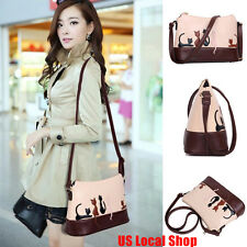 New Women Lady Leather Shoulder Bag Cat Rabbit Crossbody Messenger Purse Handbag