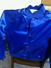 "Girls Youth Sizes Royal Blue Satin Jacket  ""They are Blank no Embroidery"""