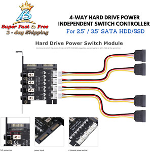 """Internal Hard Drive Power Switch For 2.5 3.5"""" SATA SSD HDD Hard Disk PC Port TVS"""