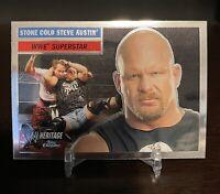 2006 Topps Chrome WWE Heritage Stone Cold Steve Austin Base 🔥