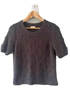 GORMAN Wool Blend Short Sleeve Jumper Size 10 Excellent Condition