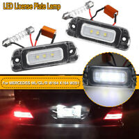 2PCS LED License Plate Number Lights Car Lamp For MERCEDES ML / GL / R W164 W251