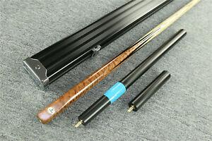 """Grand""  Emperor Series 1 pc Ash Shaft Black Ebony Handmade Snooker Cue Set@1606"