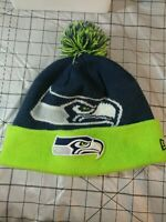 Seattle Seahawks New Era Knit Hat Callout Pom Beanie Stocking Cap NFL