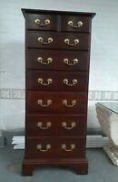 Vintage style Henkel Harris? Chippendale  Lingerie chest solid mahogany 7drawer