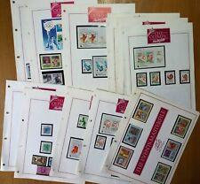 Various Disney Themed Stamps MHN Lion King Uganda, Aladdin + Pocahontas - Guyana
