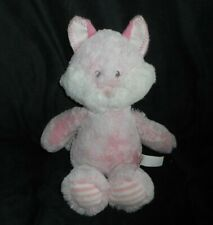 "12"" AURORA WORLD HUGGIE BABY PINK STRIPE FOX STUFFED ANIMAL PLUSH TOY SOFT LOVEY"