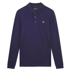 Lyle & Scott Mens Long Sleeve Polo Shirt Navy