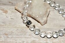 Clear Rock Quartz Bracelet Natural Stones Quartz Crystal Energy Balance Unisex