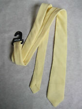 MOD REVIVAL + SQUAD + PALE YELLOW SKINNY SLIM TIE VINTAGE UNUSED NEW 70S 80S
