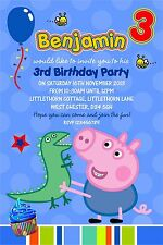 Personalised Birthday Invitations George Pig x 5