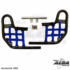 Banshee YFZ 350 YFZ350   Nerf Bars    Alba Racing  Black bar Blue nets 207 T1 BL